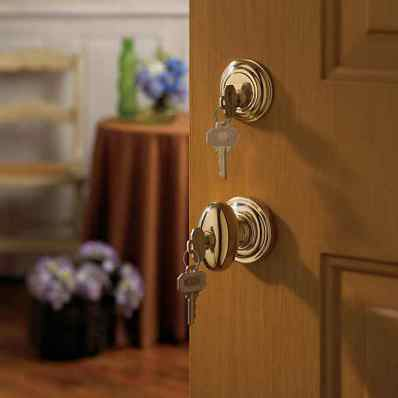 Polished Brass Door Knob & Deadbolt Lock